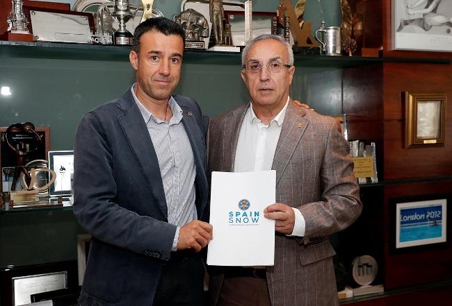 reunión entre el presidente de la RFEDI, May Peus España, y el presidente del COE, Alejandro Blanco
