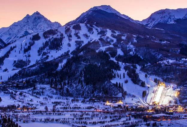 Una imagen del centro invernal de Aspen Snowmass