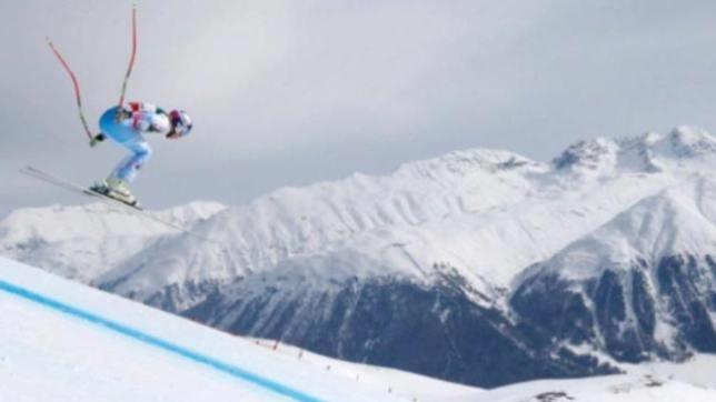 Lindsey Vonn en uno de sus últimos entrenamientos en Chile