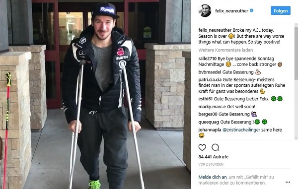 Felix Neureuther ha comunicado la mala noticia en su cuenta de instagram