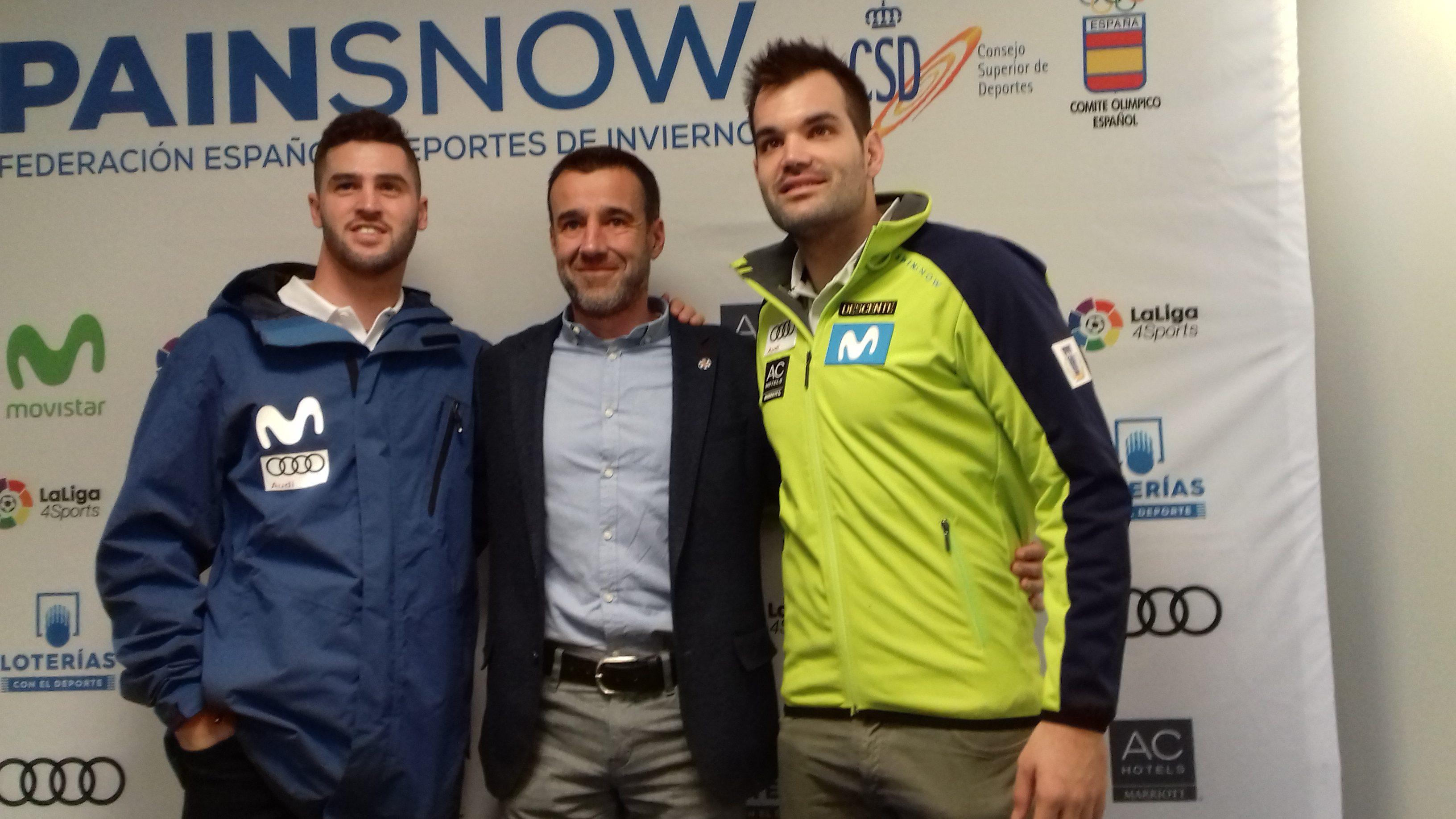 May Peus, junto a Lucas Eguibar y Quim Salarich, en la presentación de la temporada en Barcelona
