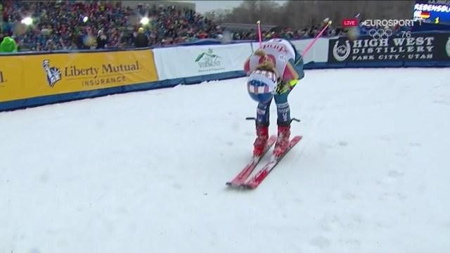 Mikaela Shiffrin quiso pero no pudo y ha acabado segunda a 67 centésimas de Mikaela Shiffrin. Por contra, ya lidera la Copa del Mundo