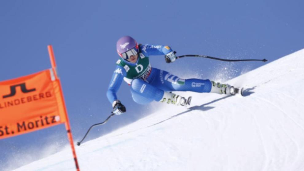 Elena Curtoni se ha lesionado la rodilla entrenando y no volverá a competir esta temporada