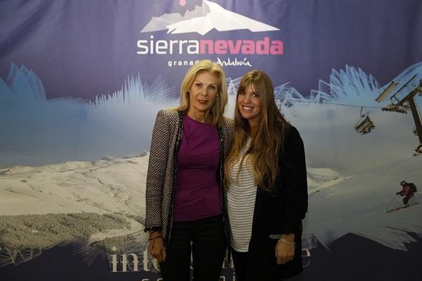 María José López y Reyes Santa Olalla, en la presentación de la temporada de Sierra Nevada