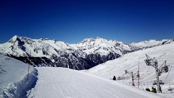 Una vista de Saint Lary durante la temporada de esquí