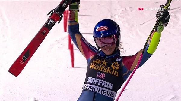 Shiffrin ha repetido victoria en Courchevel y aumenta su liderato en la Copa del Mundo