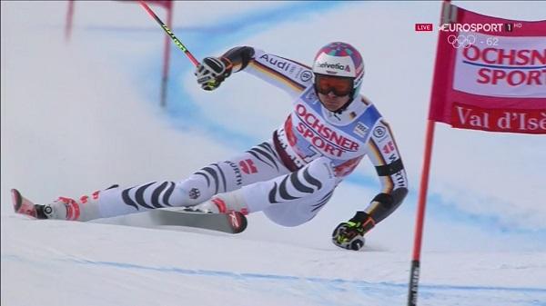 Stefan Luitz, en el gigante de Val d'Isère de la semana pasada y en el que acabó segundo