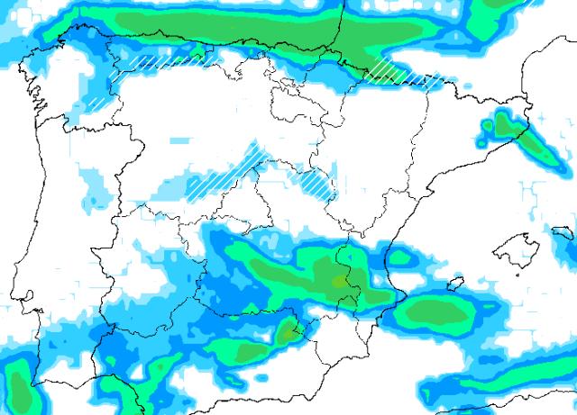Precipitaciones de las últimas horas