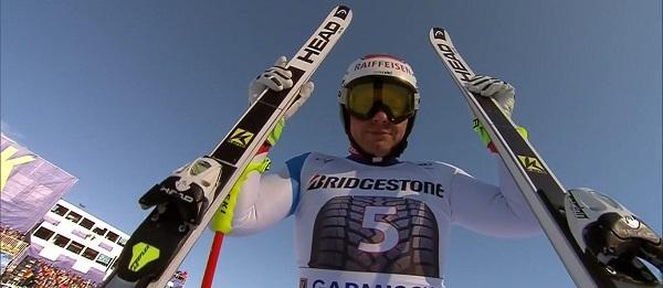 Beat Feuz ha ganado su tercer descenso de la temporada, en Garmisch sobre una Kandahar llena de obstáculos