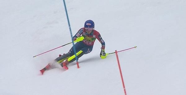 La primera manga de Shiffrin en el slalom de hoy ha sido una obra de arte