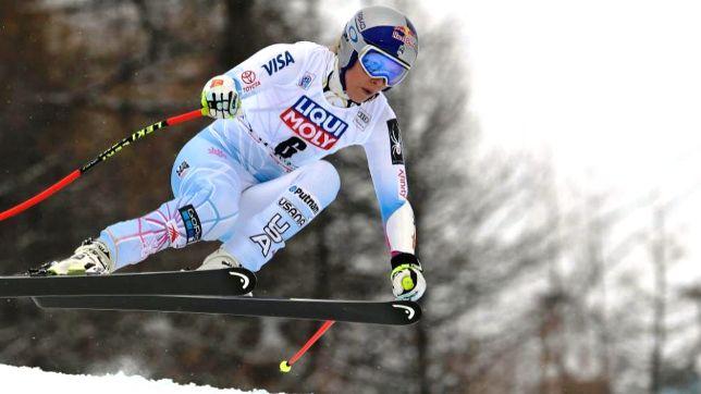 Vonn durante el Súper G en la Copa del Mundo FIS que ganó en Val d'Isère el pasado mes de diciembre