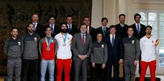 Buena parte del equipo español que participó en los Juegos de Pyeongchang fue recibido en La Moncloa por el presidente del Gobierno, Mariano Rajoy