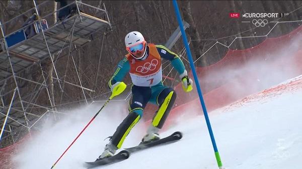 Andre Myhrer es el nuevo campeón olímpico de slalom, siendo el gran beneficiado de los errores de Marcel Hirscher y Henrik Kristoffersen, que no han acabado la carrera