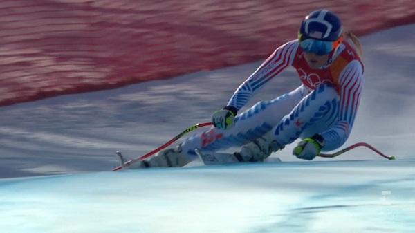 Tras ser la mejor en el descenso Lindsey Vonn no ha podido rematar y se ha salido en el slalom