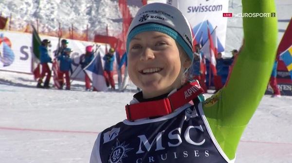 La eslovena Meta Hrovat se ha hecho con el oro en el slalom y la plata en la combinada