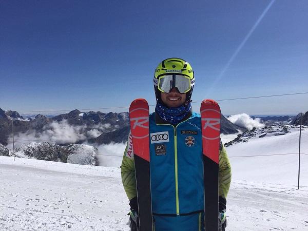 Alex Puente, del equipo de alpìno RFEDI, empezó a competir en el Trofeo Amics de Montgarri, una prueba muy especial para él