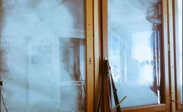 Imposible abrir las ventadas de una cabaña de Luz Ardiden