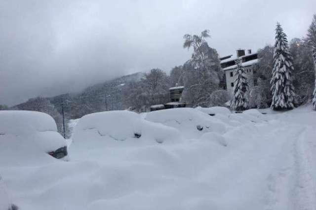 Las pistas de Monts d'Olmes, en el Ariège, colgada por la nieve