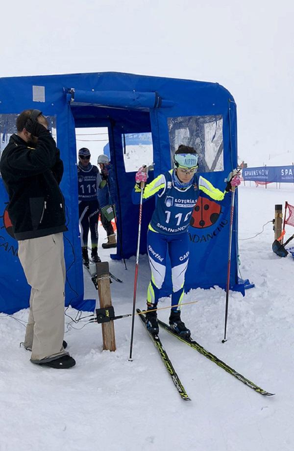 En la categoría femenina senior el título ha sido para la aranesa Marta Cester FOTO: RFEDI-Spainsnow
