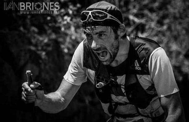Luis Alberto en pleno trail running