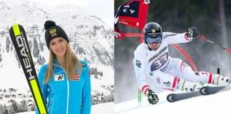 Los austriacos Nina Ortlieb y Johannes Strolz, los ganadores de la Copa de Europa de esquí alpino