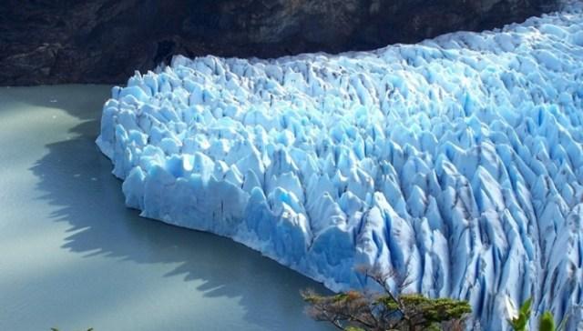 Capas de un glaciar