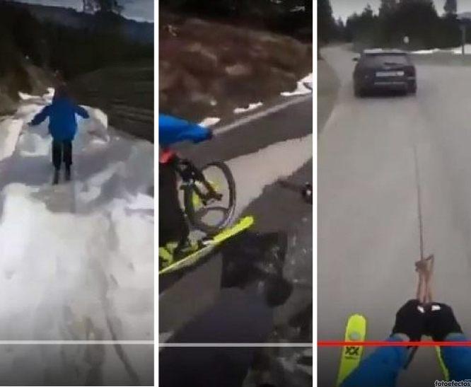La nueva forma de practicar deporte sobre nieve, en bicicleta y cabe-ski coche