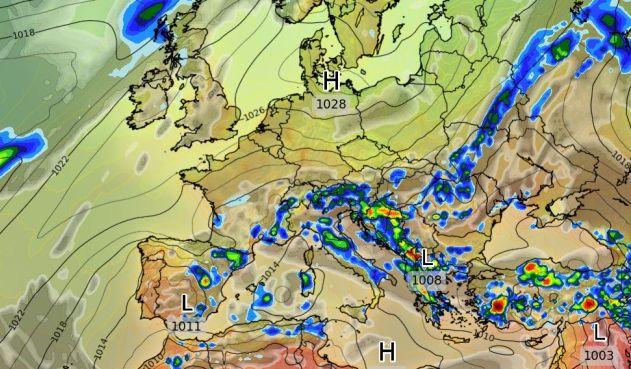 Las precipitaciones quedarán ubicadas en el área mediterránea