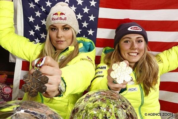 Lindsey Vonn y Mikaela Shiffrin, las figuras más representativas de la Copa del Mundo femenina