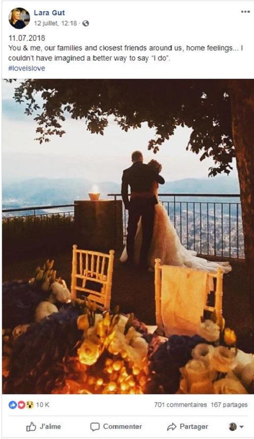 Así anunció su boda Lara Gut en su cuenta de facebokok