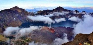 Imagen del volcán Rinjani