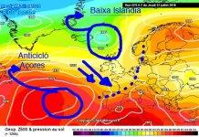 El tiempo en la Península viene propiciado por el anticiclón de las Azores y la baja de Islandia