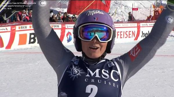 Primera victoria de la temporada de Tessa Worley. La ha logrado en el gigante de Cerro Castor
