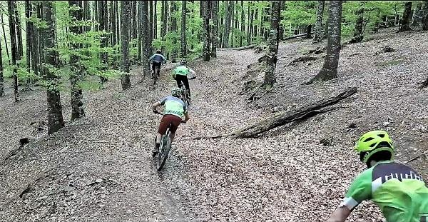 Los bikers encontrarán en Eremua una serie de recorridos perfectamente balizados y señalizados. FOTO: Pyrene Visuals