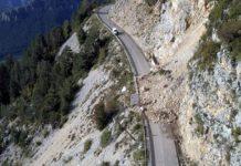 Carretera de acceso a Port del Comte, a la altura del municipio de la Pedra i la Coma