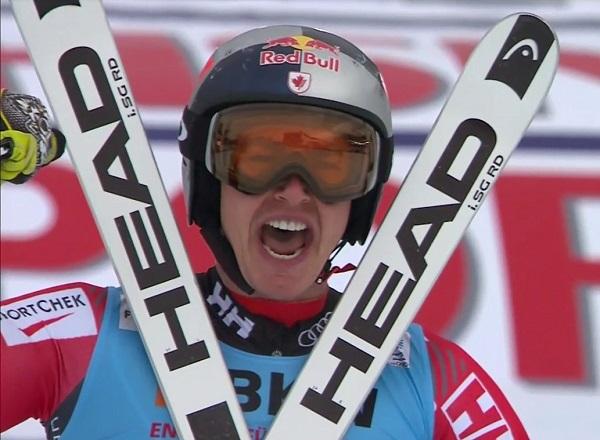 Erik Guay tras proclamarse campeón del mundo de super G en St Moritz
