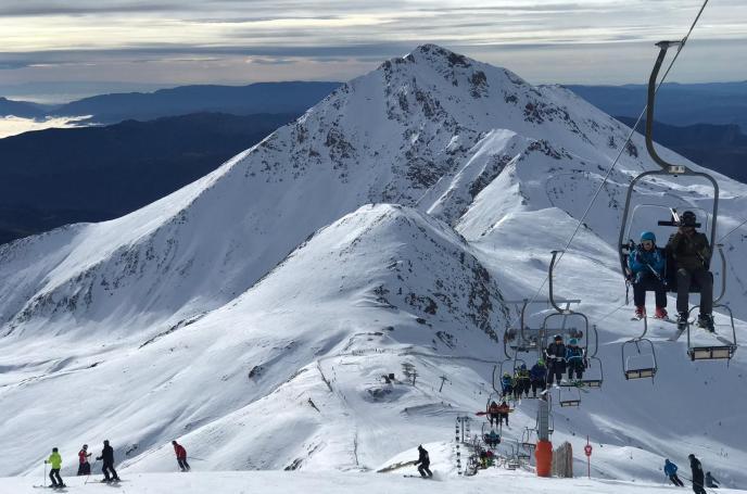 Vistas desde el Puig Falcó, a 2.750 metros de altitud