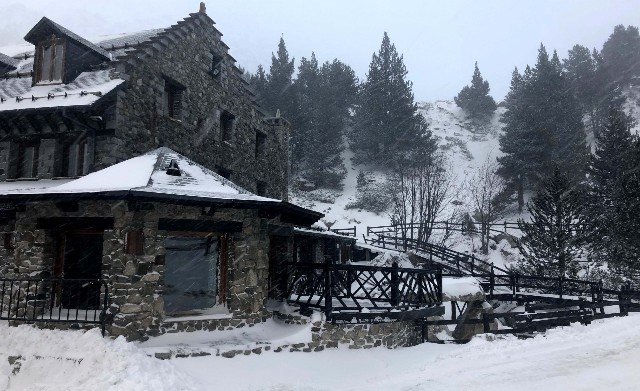 Nevada en llanos del Hospital (Benasque)