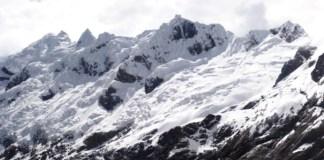 Una imagen del nevado Mateo donde murieron tres españoles y un guía peruano