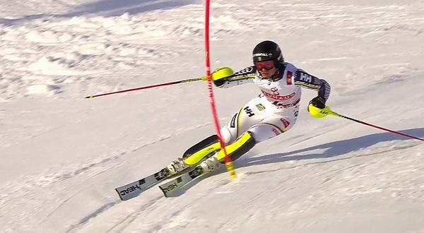 Anna Swenn Larsson ha hecho el slalom de su vida y se ha colgado la plata en casa, ante su afición.