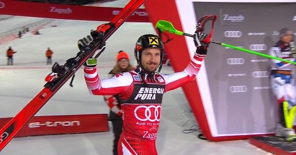 Sexto Globo de slalom para Marcel Hirscher.