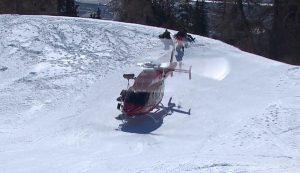 Gauthier, evacuada en helicóptero.