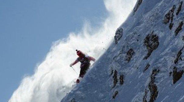 El aranés durante su descenso en Austria