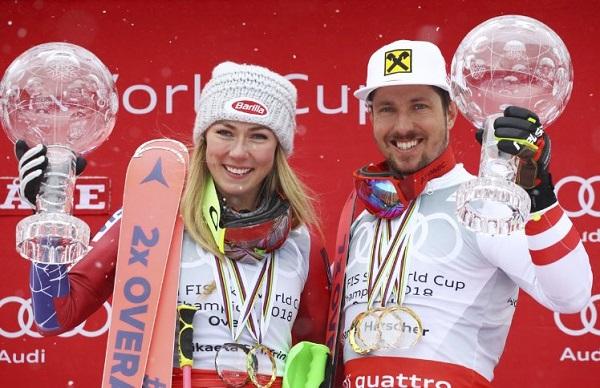 Mikaela Shiffrin y Marcel Hirscher, los grandes favoritos en Are.