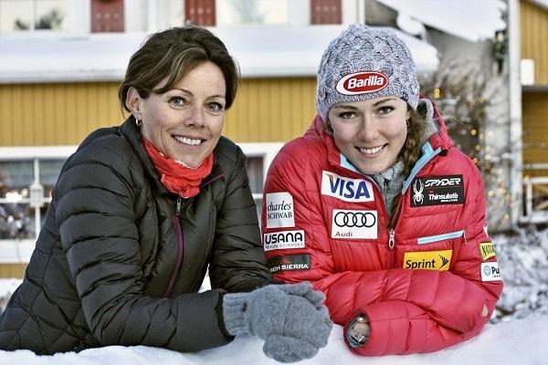 Shiffrin y su madre Eileen, una combinación triunfadora.