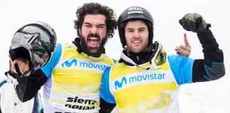 Ambos parten como los claros favoritos al triunfo en la modalidad de snowboard cross (SBX)