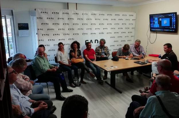 Reunión en Granada con los responsables del libro