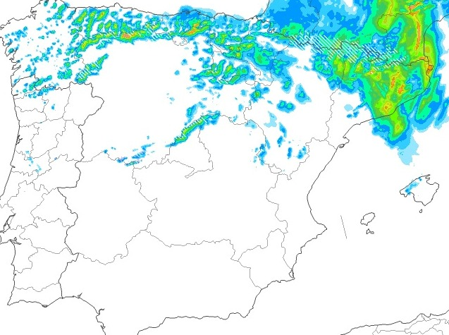 El tercio norte peninsular, el más afectado por la borrasca y la nieve en cotas bajas