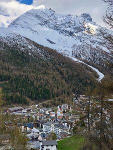 Una imagen de la estación suiza de Saas Fee