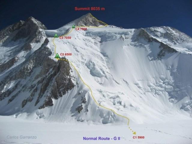 Sergi Mingote abortaba las subida al Gasherbrum I